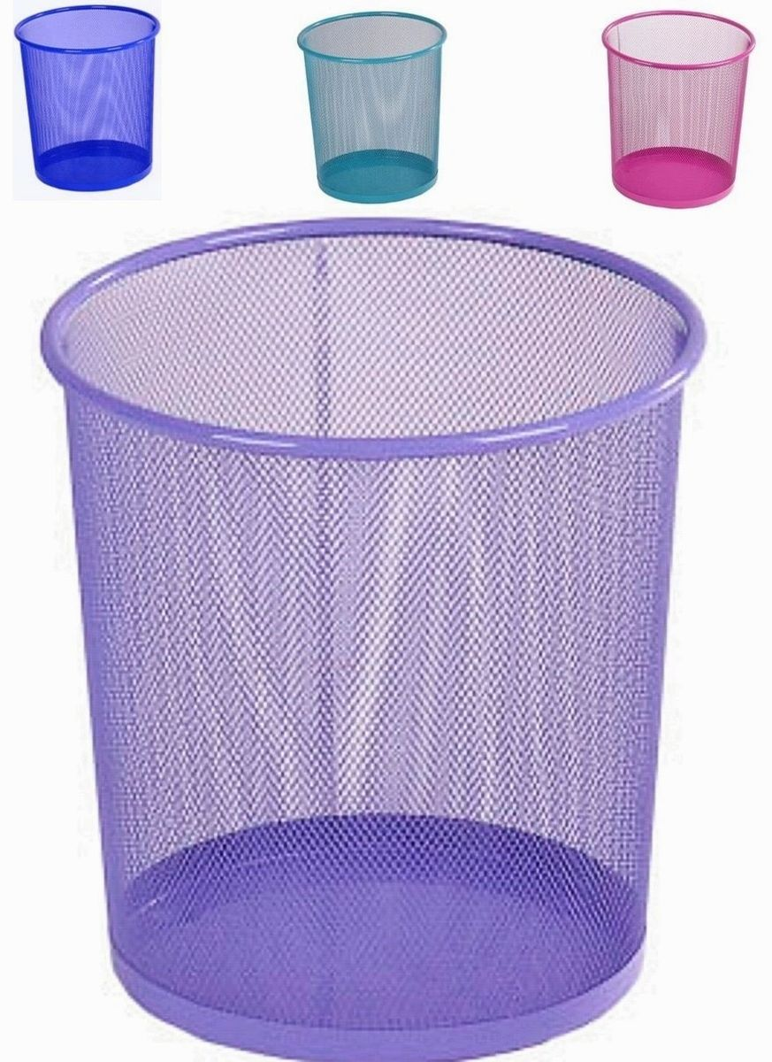 Mesh metal waste paper bin 5 colours. Price for 1 bin